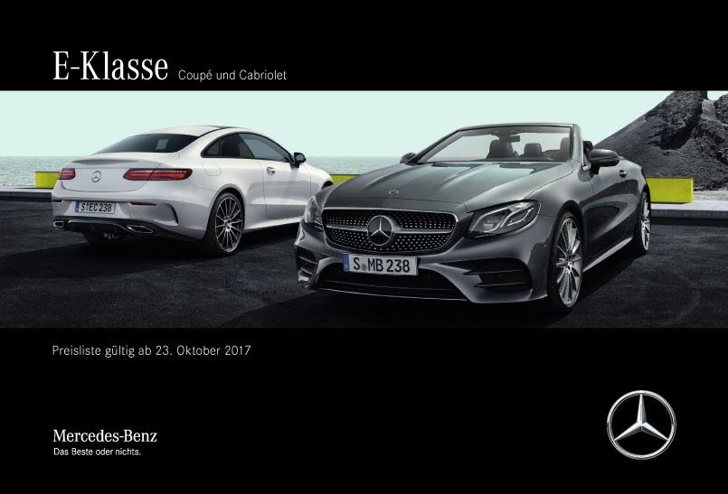 E Klasse Coupe Preislisten Mercedes Benz Service
